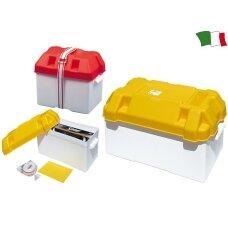 Akumuliatoriaus dėžė MAXI (vid. 395x180x200, balt./gelt., Italija)