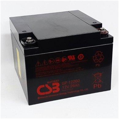 Akumuliatorius Hitachi Chemical  12V, 26Ah.