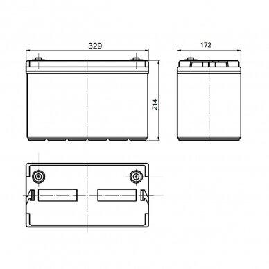 Akumuliatorius SUPREMAX LiFePO4 25.6V50Ah 3