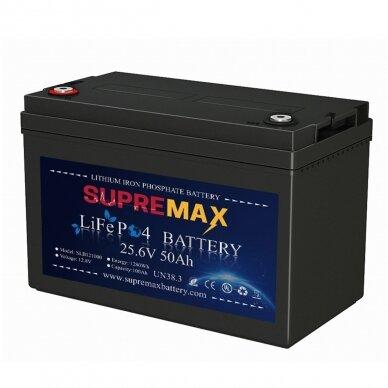 Akumuliatorius SUPREMAX LiFePO4 25.6V50Ah