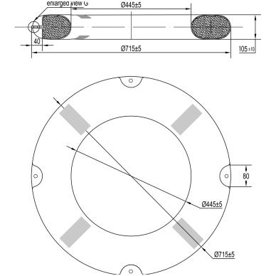 "Gelbėjimo ratas ""Lalizas"" (SOLAS, CE, atšvait, 2,5 kg, diam 73cm) 2"