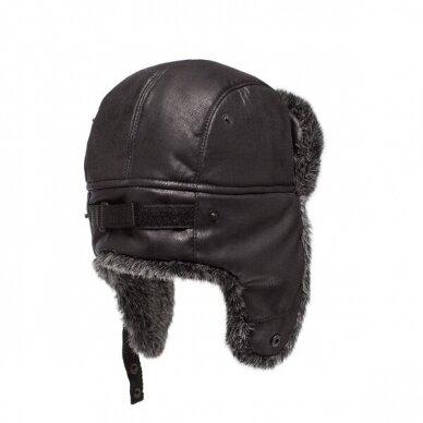 Kailinė kepurė TORVI juoda-t.pilka 2