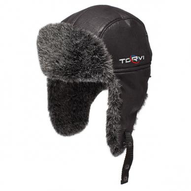 Kailinė kepurė TORVI juoda-t.pilka