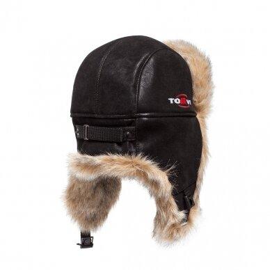 Kailinė kepurė TORVI juoda/šv. Pilka 2