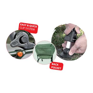 """Kėdė """"CarpZoom"""" Full Comfort Boilie Armchair (60x64x37/96 cm) 2"""