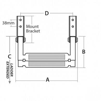 Kopetėlės teleskopinės nerūdijančio plieno (2-4 pakopų) 6