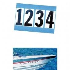 Lipdukas kietabortės valties numeriui simboliai LT0123456789 , H20cm