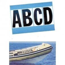 Lipdukas pripučiamos PVC valties numeriui, simboliai LT0123456789, H20cm