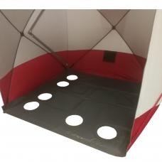 Pašiltintos grindys palapinei kubas (pvc, 1,95x1,95)