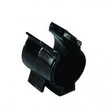 Plastikinis fiksatorius/tvirtiklis Lalizas (Ø25 mm, juoda)