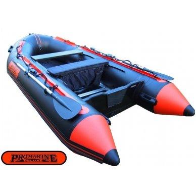 PVC valtis ProMarine Deluxe (dugnas plokštė, ilgis 320 cm, pilka -juoda spalva) 3