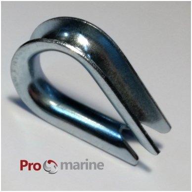 Virvės metalinė auselė (Thimble 10 mm)